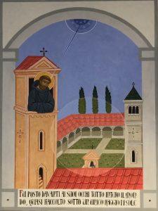 Ultimo pannello iconografico sulla vita di San Benedetto