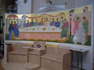 Le nozze di Cana - abside - Chiesa di S. Maria Maggiore - Bussolengo