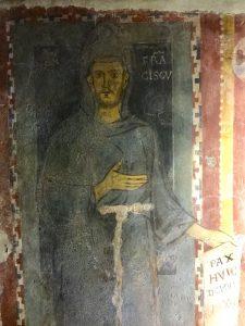 Subiaco, ritratto di s. Francesco di pittore contemporaneo