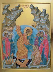 La discesa agli inferi - Scuola di Iconografia Abbazia di Maguzzano